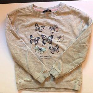 George girls butterfly sweatshirt size medium 7-8
